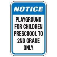Playground For Children Preschool - Playground Sign