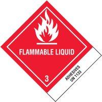 Flammable Liquid UN1133 Shipping Labels