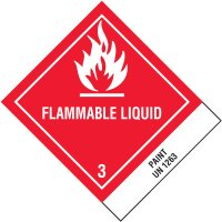 Flammable Liquid Paint DOT Shipping Labels