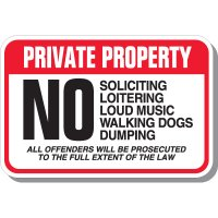 Private Property Offenders Prosecuted Sign
