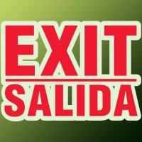 Formed Bilingual Exit Sign