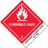Flammable Liquids NA1993 DOT Placard Shipping Labels