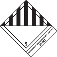 Enviormentally Hazardous Substances Shipping Label