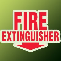 Formed Fire Extinguisher Sign