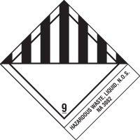 Hazardous Liquid Waste DOT Shipping Label