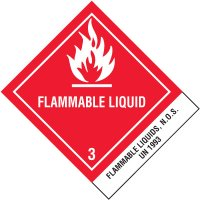 Flammable Liquids UN1993 DOT Placard Shipping Labels