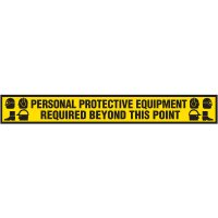 PPE Protective Wear Anti-Slip Floor Label