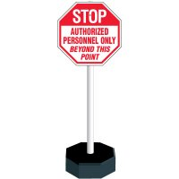 Authorized Personnel Only PVC Sign Stanchion Kit