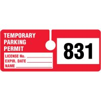 Rectangular Temporary Parking Permits