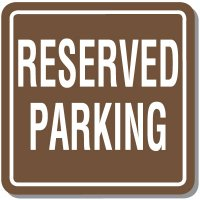 Contemporary Reserved Parking Signs