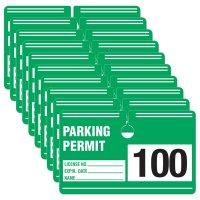 Parking Permit - Rectangular Cardstock Parking Permits
