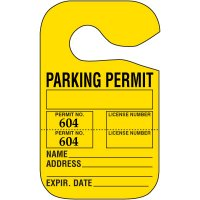 Perforated Parking Permits