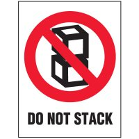 Do Not Stack Package Handling Label