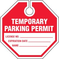 Octagonal Parking Permits
