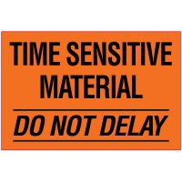 Time Sensitive Package Handling Label