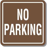 Contemporary No Parking Sign