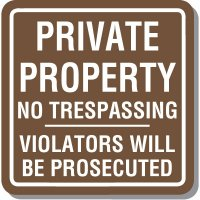 Contemporary Private Property Parking Sign