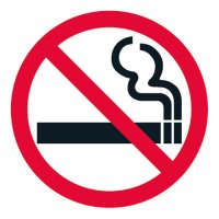 Pavement Message Signs - No Smoking, Symbol
