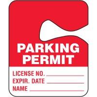 Hanging Cardstock Parking Permits