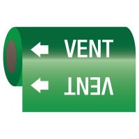 Vent - Self-Adhesive Pipe Markers-On-A-Roll