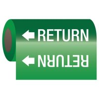 Return - Self-Adhesive Pipe Markers-On-A-Roll