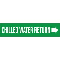 Chilled Water Return With Arrow Pipe Markers