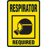 Respirator Required Floor Label