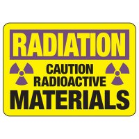Radiation Caution Radioactive Materials Sign