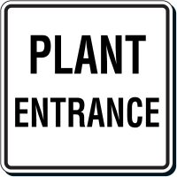 Reflective Parking Lot Signs - Plant Entrance