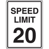 MPH Speed Limit Sign