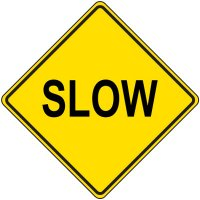 Reflective Warning Sign - Slow