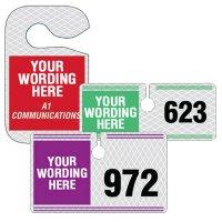 Reflective Custom Hanging Parking Permits