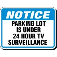 Shipping & Receiving Signs - Notice Parking Lot