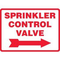 Sprinkler Control Valve Sign (Right Arrow)