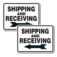 Shipping and Receiving Signs (With Right/Left Arrow)