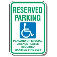State-Specific Handicap Parking Signs - Hawaii