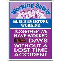 Working Safely Keeps Everyone Working Scoreboard