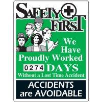 Safety First Scoreboard