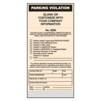 Standard Parking Violation Tickets - Parking Violation