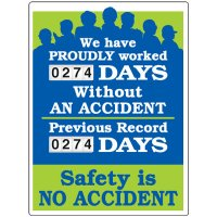 We Have Proudly Worked Accident Scoreboard