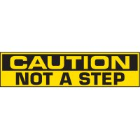 Caution Not A Step Vinyl Label