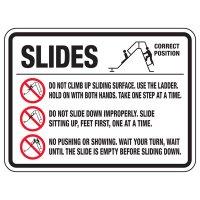 Slides Do Not Climb - Playground Sign