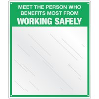 Safety Slogan Mirror Signs - Working Safely