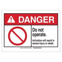 Brady 144473 ANSI Sign - Danger - Do Not Operate