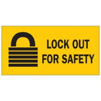 Brady 88303 Lockout Sign - Lockout for Safety