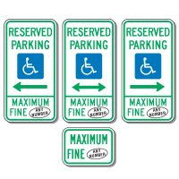 Semi-Custom Handicap Parking Signs
