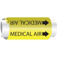 Medical Air - Setmark® Snap-Around Pipe Markers