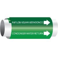 Condenser Water Return - Setmark® Snap-Around Pipe Markers