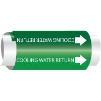 Cooling Water Return - Setmark® Snap-Around Pipe Markers