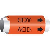 Acid - Setmark® Snap-Around Pipe Markers